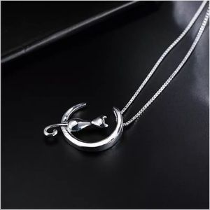 Jewelry - Sterling Silver 925 Cat Necklace